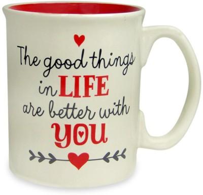 Archies LIFE IS BETTER WITH YOU MUG Ceramic Mug