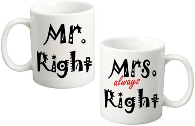Fantaboy Mr. Right & Mrs. Always Right Couple Ceramic Mug
