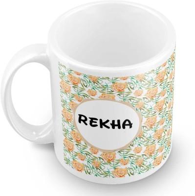 posterchacha Rekha Floral Design Name  Ceramic Mug