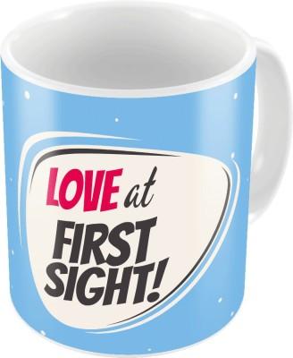 Indiangiftemporium Blue Designer Romantic Printed Coffee  707 Ceramic Mug