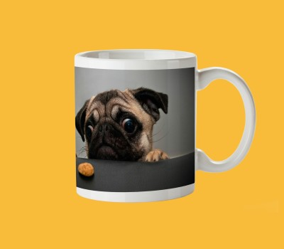 pentagraphics Pug Love  Ceramic Mug