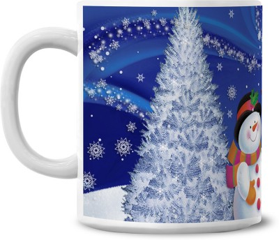 Lovely Collection Santa And Snowman Ceramic Mug