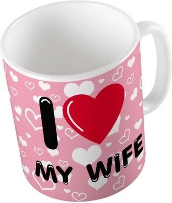 Indiangiftemporium Pink Color Romantic Printed Coffee  695 Ceramic Mug