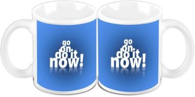 HomeSoGood Do It Now Office Quote Ceramic Mug