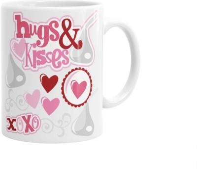 Hainaworld Hugs And Kisses XOXO Coffee  Ceramic Mug