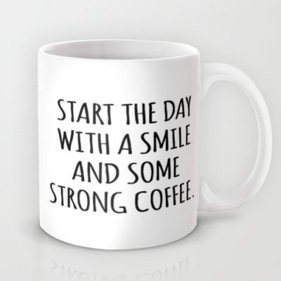 Astrode Smile And Some Coffee Ceramic Mug