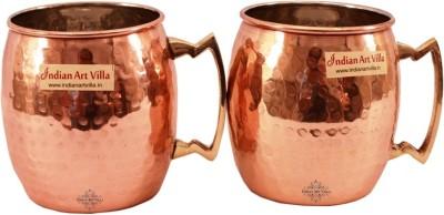IndianArtVilla Nickel Round Hammered Moscow Mule Beer  Cup - Hotel Restaurant Barware Copper Mug