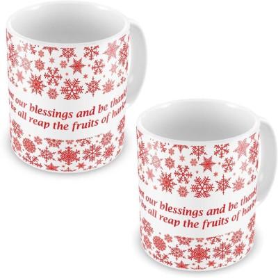 Indian Gift Emporium Fancy Design Cute White Coffee s Pair 603 Ceramic Mug