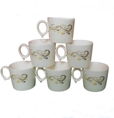White Gold Pattern Ceramic Mug