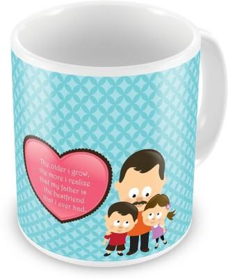 Indian Gift Emporium My Father is Best Friend Printed Design Coffee  516 Ceramic Mug