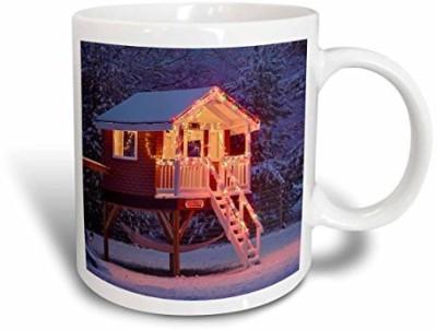 3dRose Playhouse in Winter Snow, Louisville, Kentucky Us18 Aje0451 Adam Jones Ceramic , 15 oz, White Ceramic Mug