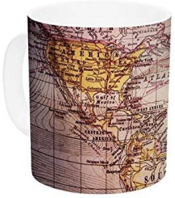 Kess InHouse InHouse Sylvia Cook Wander Ceramic Coffee , 11 oz, Multicolor Ceramic Mug