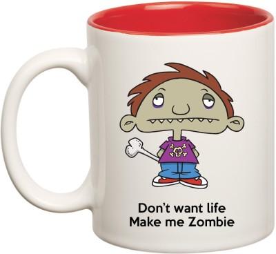 Huppme Zombie Inner Red  Ceramic Mug
