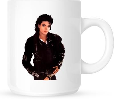 Huppme Michael Jackson Styliest White  Ceramic Mug