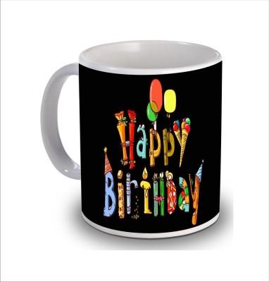 Print Hello Happy Birthday Cake b233 Ceramic Mug