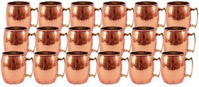 Indian Art Villa Set Of Moscow Mule Round Hammered Beer  Cup Restaurant Home Garden Bar Hotel Ware Copper Mug