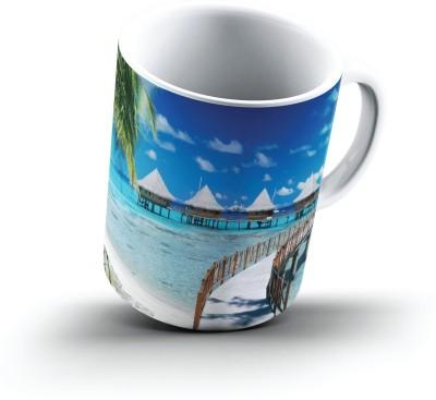 Ucard Walkway To Paradise Tiputa Rangiroa French Polynesia2700 Bone China, Ceramic, Porcelain Mug