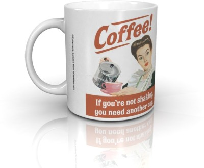 Bcreative Coffee If You,re Not Shaking You Need Another Cup (Officially Licensed) Ceramic Mug