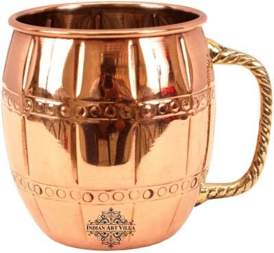 IndianArtVilla Copper Nickel Designer Beer Cup Moscow Mule | Volume 630 ML Copper Mug