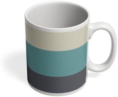 PosterGuy Cyan Hued Stripes Art, Color, Colour, Stripes, Multicolour, Iphone, Cases, Shade Ceramic Mug