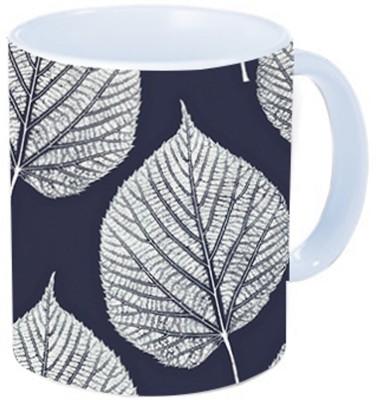 Rawkart leaf blue Ceramic Mug
