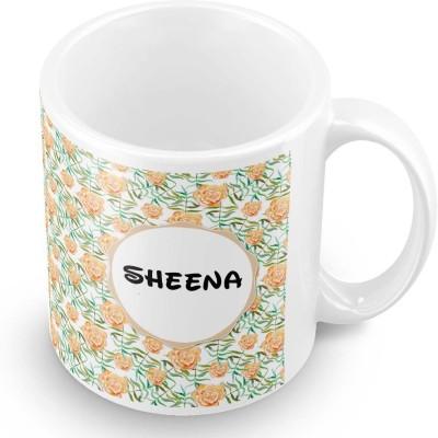 posterchacha Sheena Floral Design Name  Ceramic Mug