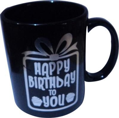 swadesibuyzzar Birthday Gift  Black Colour Ceramic, Bone China Mug