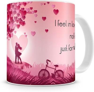 Print Haat I Feel In Love Ceramic Mug