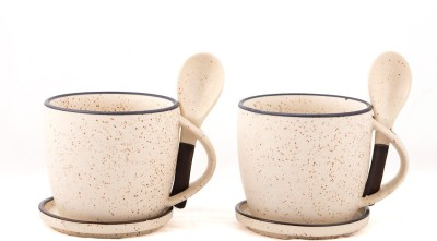 Swagger Ceramic  set / Cup set with spoon and coaster (Set of 2) Ceramic Mug