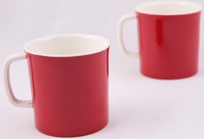Hi Luxe Dbl Clr Melamine 42248 Dual - Red Melamine Mug