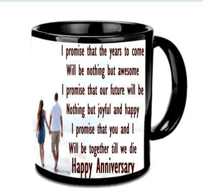 Jiya Creation1 Nice quote for Happy Anniversary Multicolor Ceramic Mug