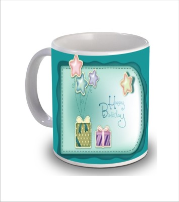 Print Hello Happy Birthday Cake b180 Ceramic Mug