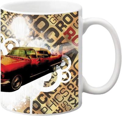 ezyPRNT Vinatge car Ceramic Mug
