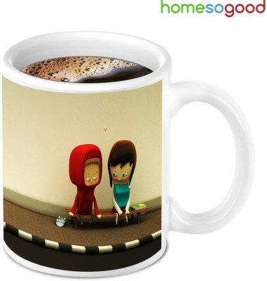 HomeSoGood For Love Birds Ceramic Mug
