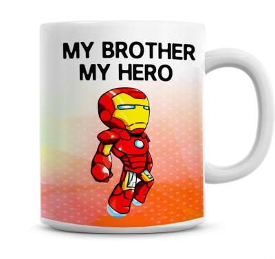 Moodybee My Bro My hero Rakhi Gift for Brother, Gift for sister, Rakhsha Bandhan Ceramic Mug