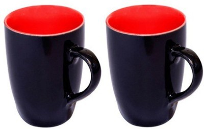 Lovato Black Ceramic  - Set Of 2 Ceramic Mug