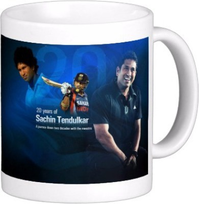 Exoctic Silver Sachin Tendulkar: Cricket God A006 Ceramic Mug