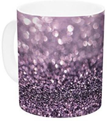 Kess InHouse InHouse Debbra Obertanec Lavender Sparkle Purple Glitter Ceramic Coffee, 11 oz, Multicolor Ceramic Mug(60 ml) at flipkart