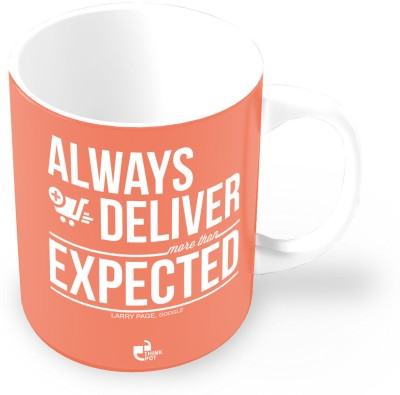 Thinkpot Always Deliver More Than Expected - Larry Page, Google Ceramic Mug