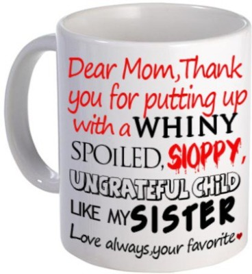 Giftsmate Funny For Mother Ceramic Mug(325 ml)