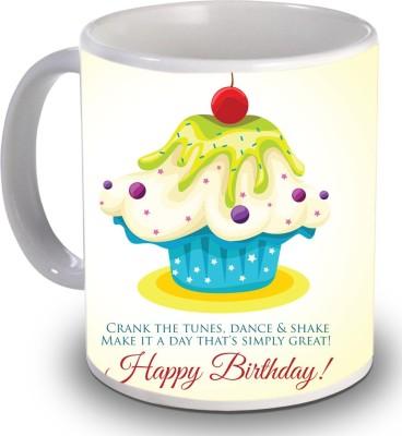 Print Helllo Happy Birthday R154 Ceramic Mug