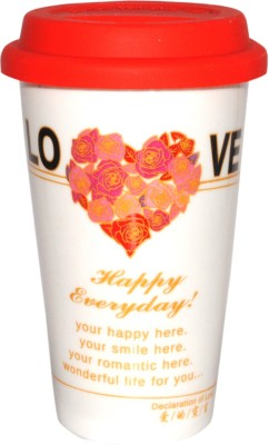 Divsam Happy Everyday Roses Printed Ceramic Mug