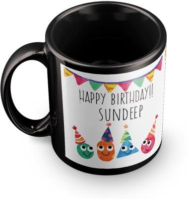 posterchacha Sundeep Personalised Custom Name Happy Birthday Gift Tea And Coffee  For Gift Use Ceramic Mug