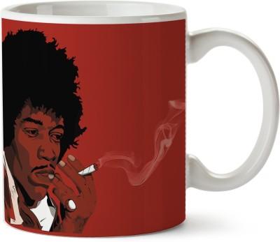Pentagraphics Smokey Jimi Hendrix Ceramic Mug