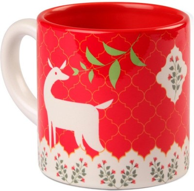 Studio Pandora Pink Deer Tea Ceramic Mug