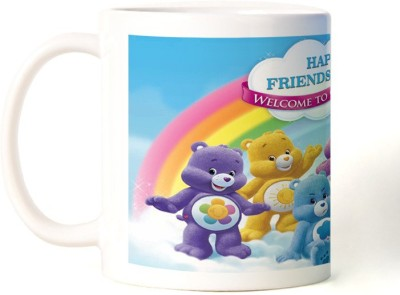 Rockmantra Cute Teddy Bears Happy Friendship Day Ceramic Mug