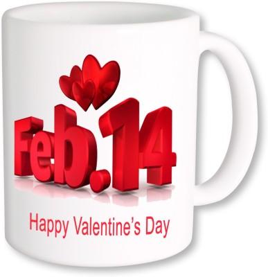 A Plus happy valentine day feb 14 Ceramic Mug