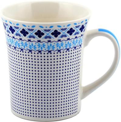 Chrome Polka Ceramic Mug(300 ml) at flipkart