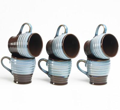 Cultural Concepts Brown Studio Cara Tea Cups Ceramic Mug