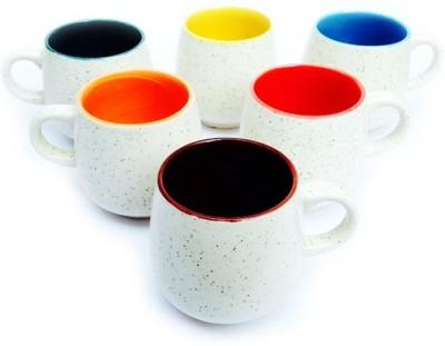 Vpra Mart U- Shape Marble Ceramic Mug